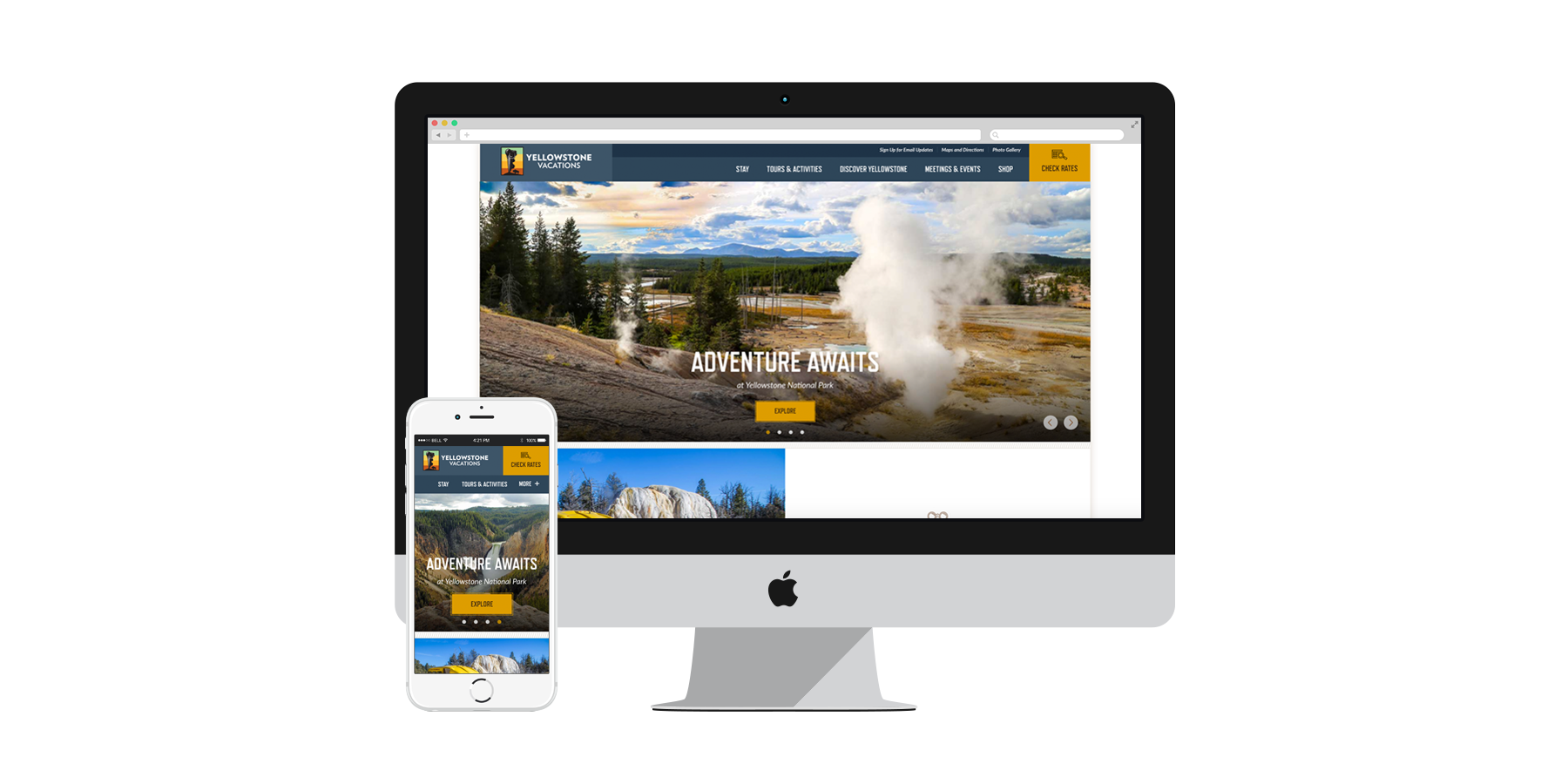 Yellowstone Vacations Website
